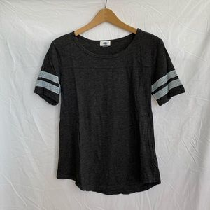 Old Navy Striped Sleeves Relaxed Fit T-Shirt